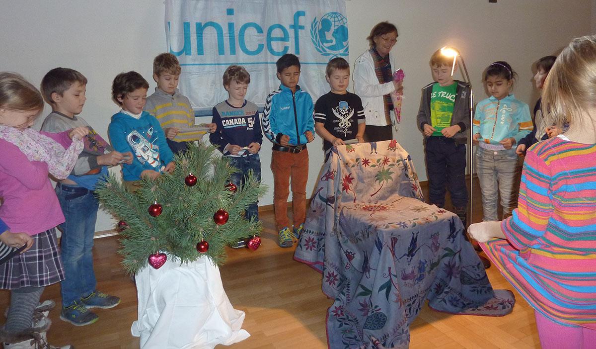 Orgelpfeifer Trostberg 2015 Unicef Vorlesen