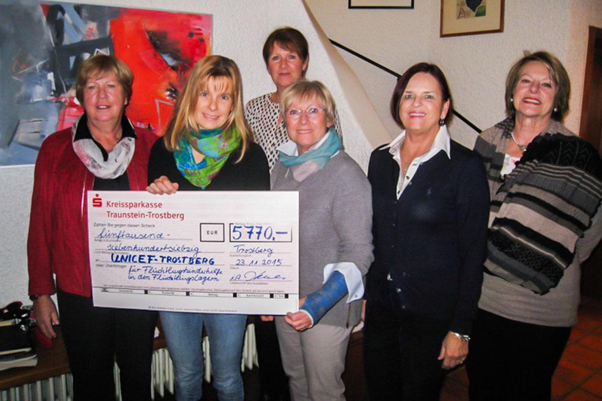 Unicef-Benefizkonzert 2015 spielt 5.770 Euro ein.