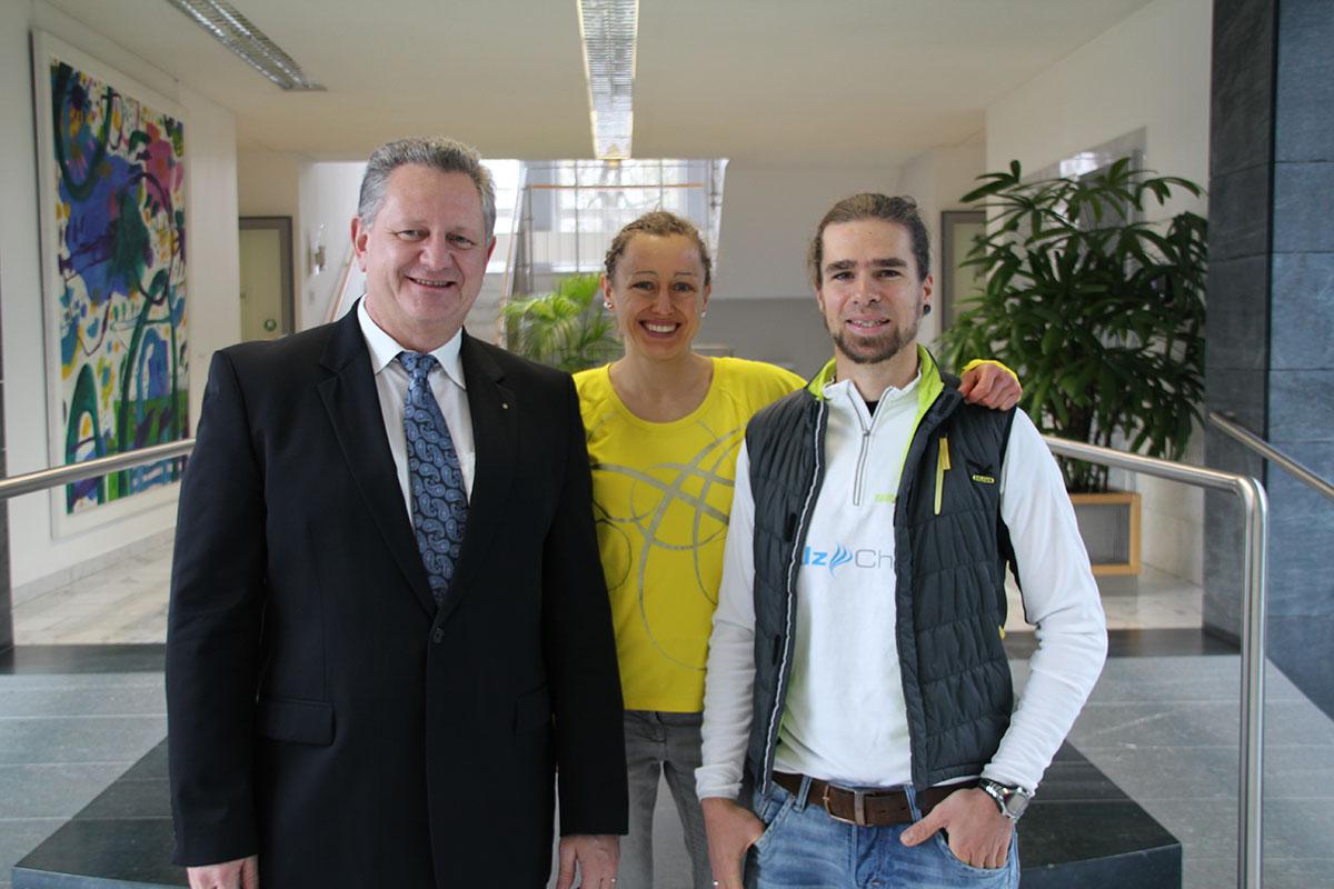 Stefan Greger, Julia Viellehner und Stephan Aitl.