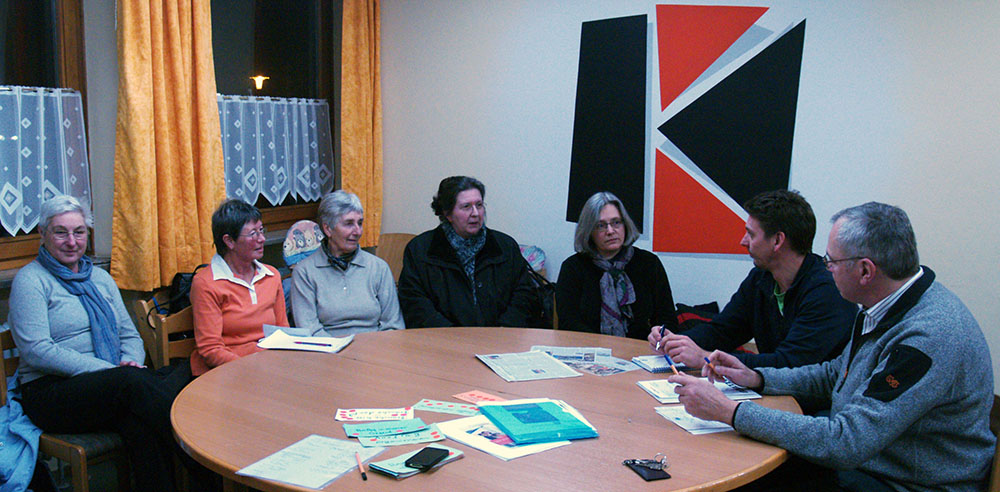 Arbeitsgespräch der Kolpingfamilien zum Thema Café International.