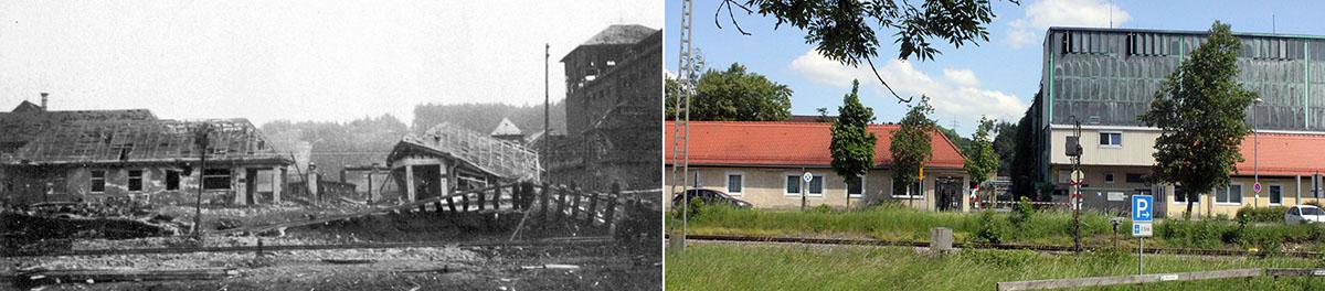70 Jahre liegen zwischen diesen beiden Bildern.