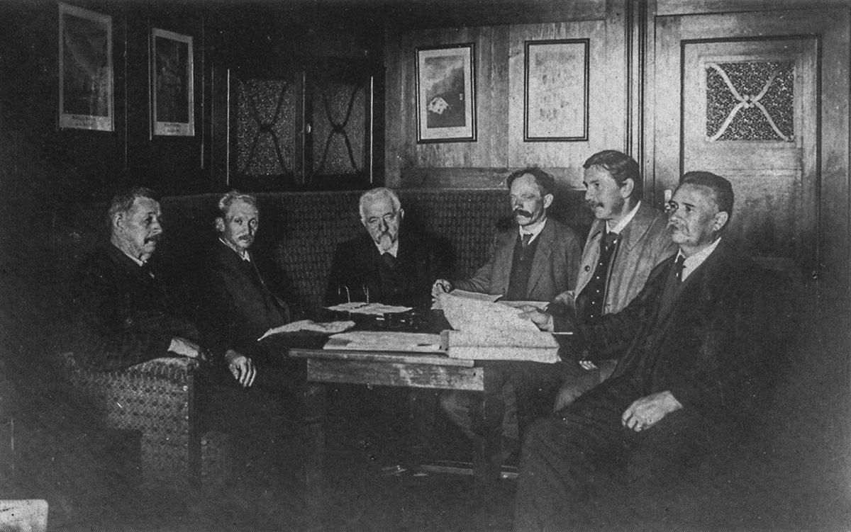 Arbeitssitzung 1915 im Bürgermeisterzimmer