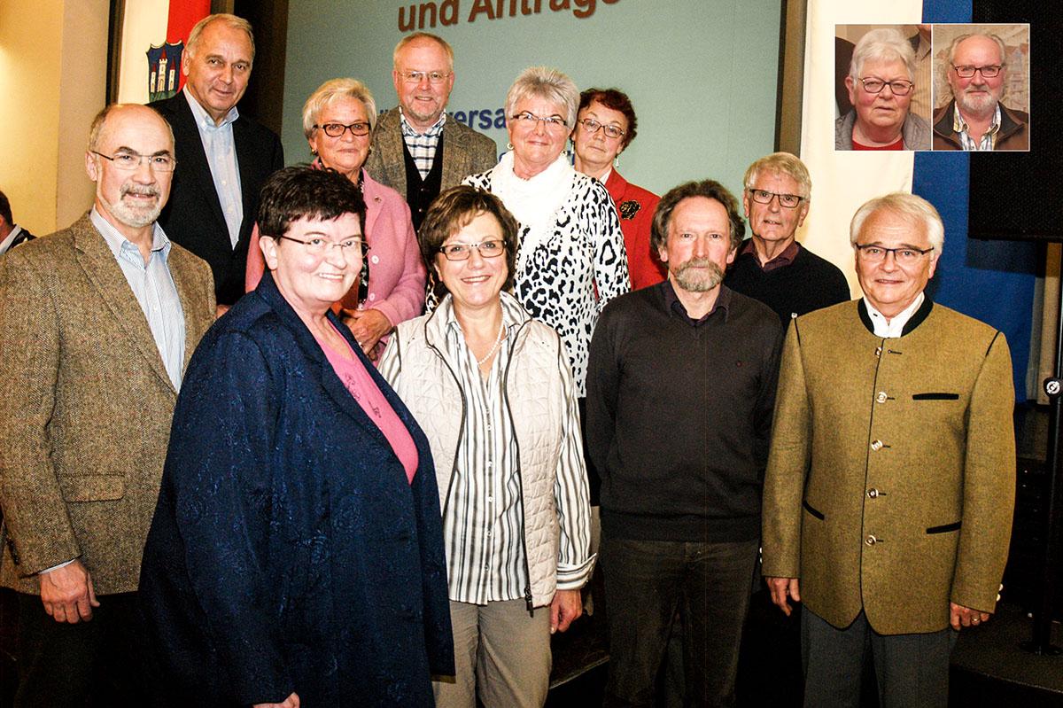 Die Kandidaten des Seniorenbeirats der Stadt Trostberg.