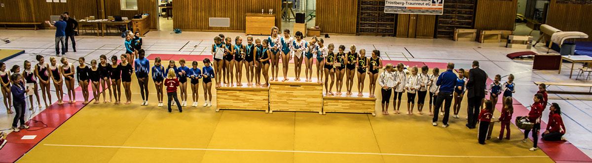 Nachwuchsturnerinnen aus zehn Vereinen