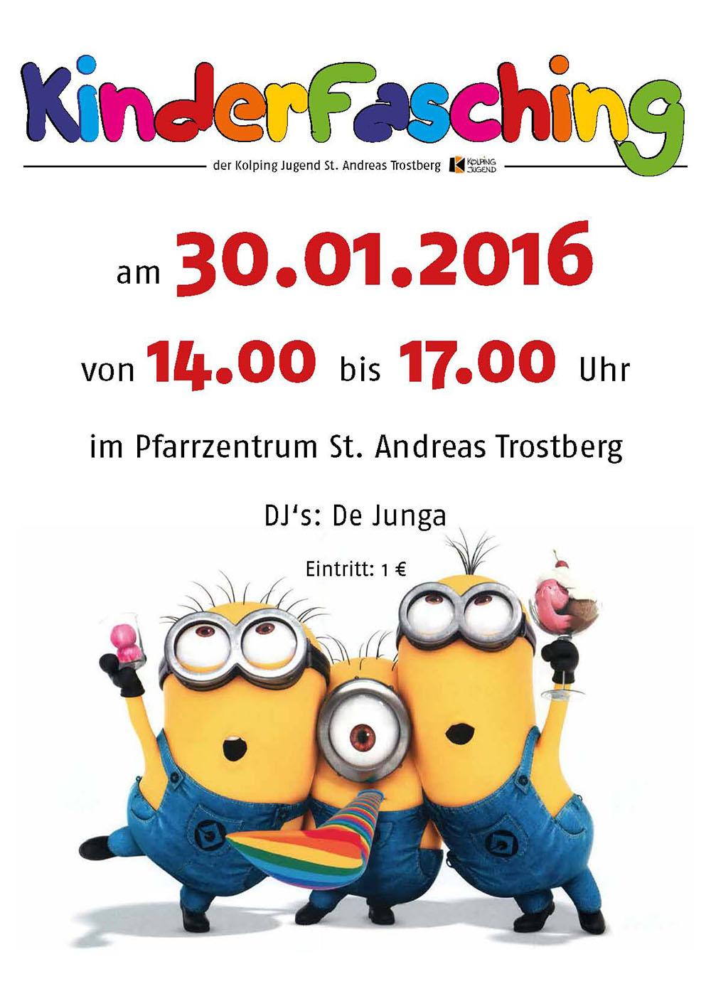 Orgelpfeifer Trostberg 2016 Kinderfasching
