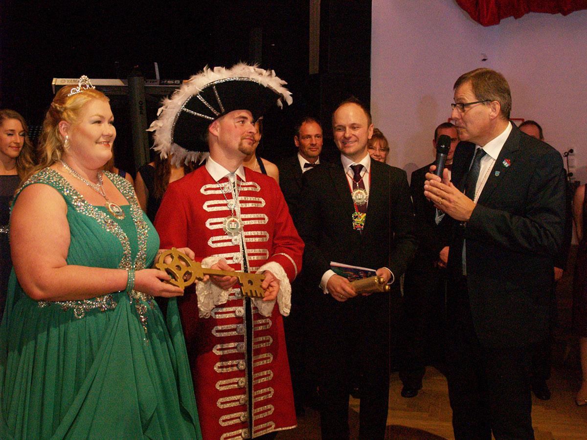 Prinzenpaar, Elfer-Chef und Bürgermeister