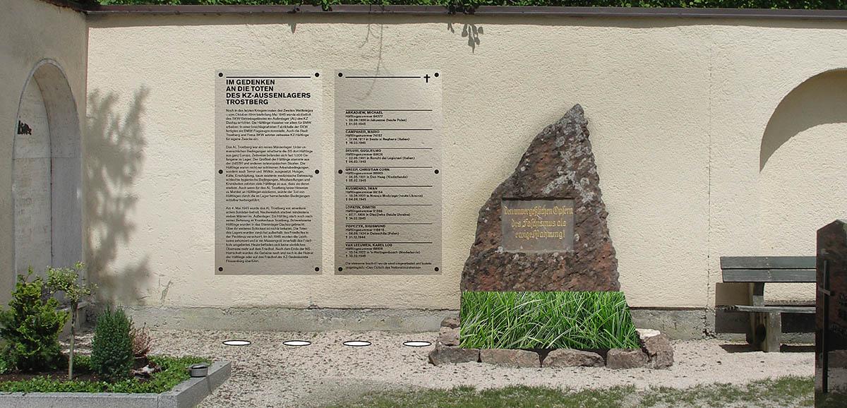 Der Entwurf für das Mahnmal auf dem Trostberger Friedhof.
