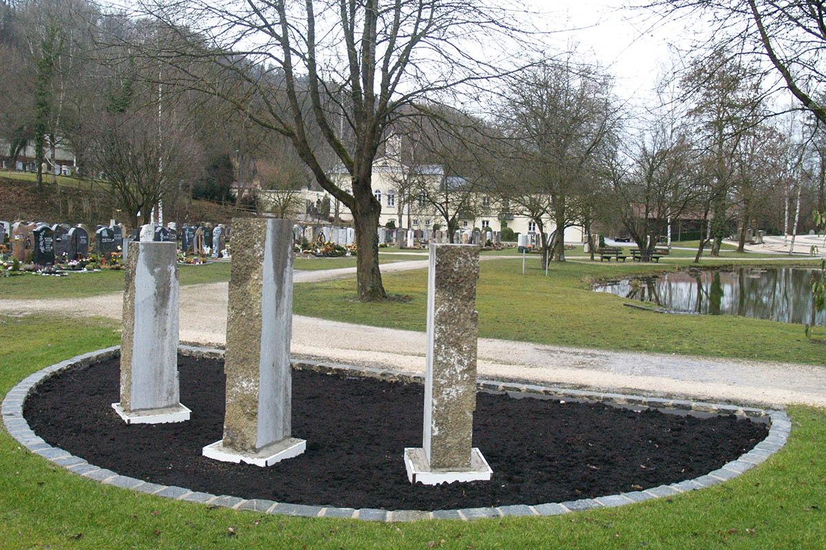 Ruhegemeinschaftsfeld auf dem Friedhof
