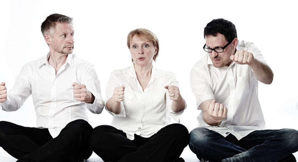 Kabarett-Trio Geschwisterhiebe Postsaal Trostberg Orgelpfeifer