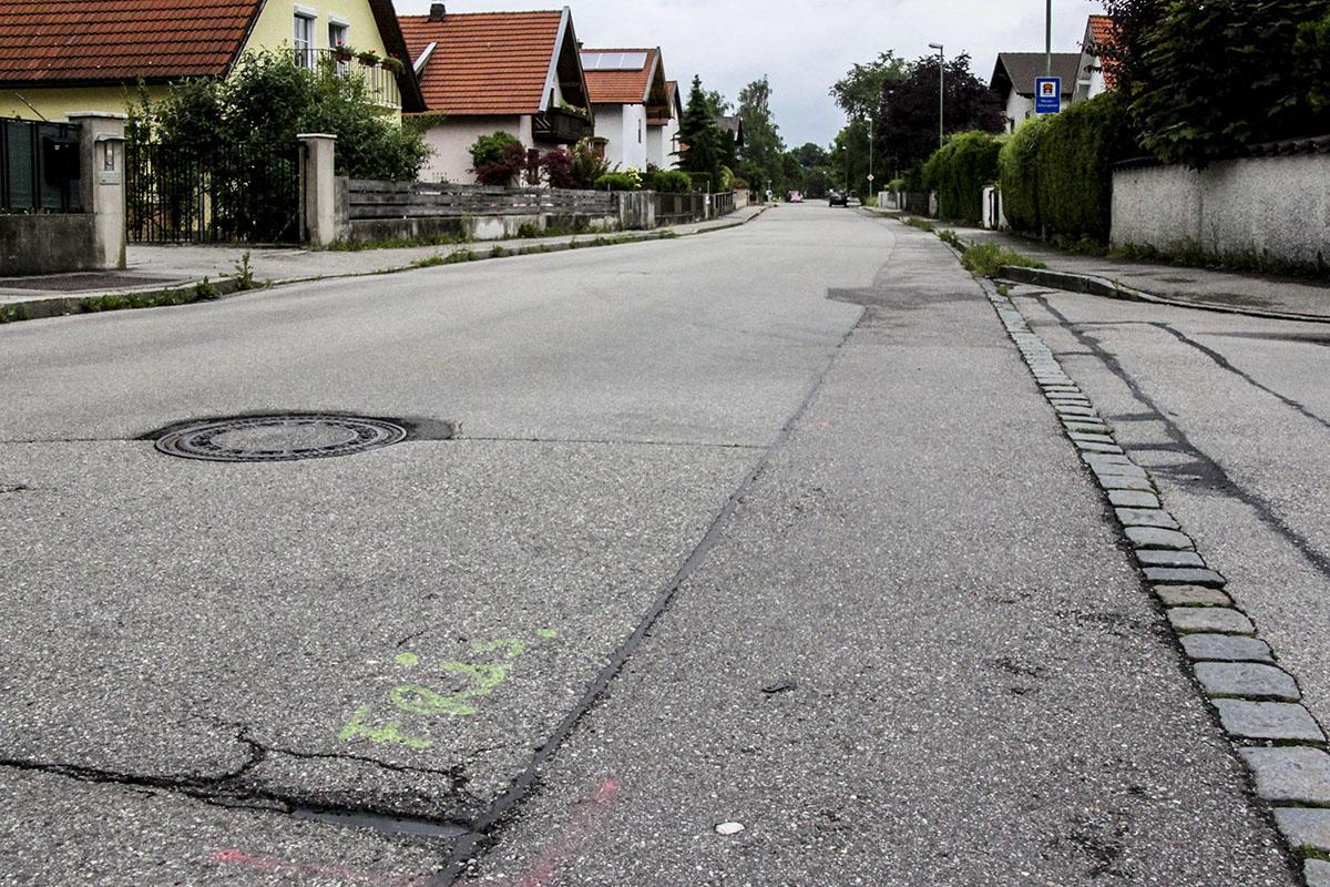 Vorzeichen einer Sanierung: Hertzhaimer-Straße