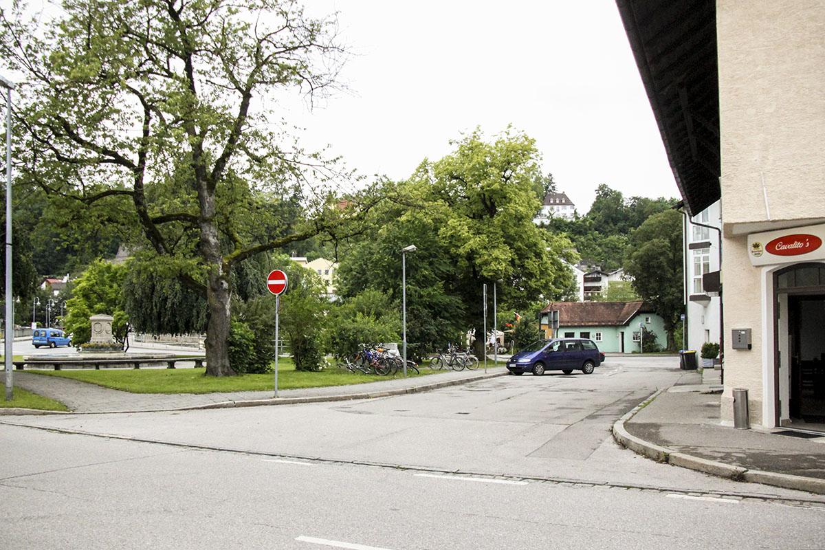 Die Durchfahrt am Caroplatz wird beseitigt.