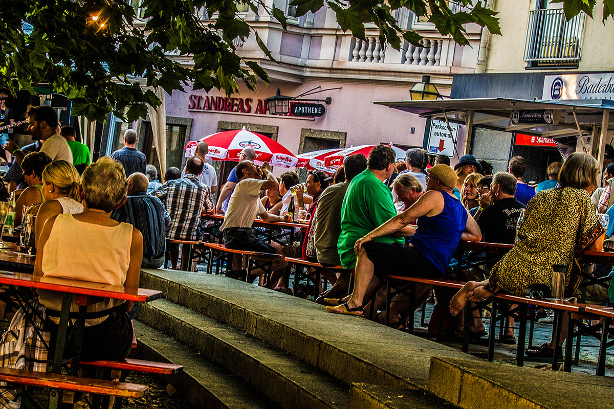 konzertante Biergartenatmosphäre beim ZDL-Festival