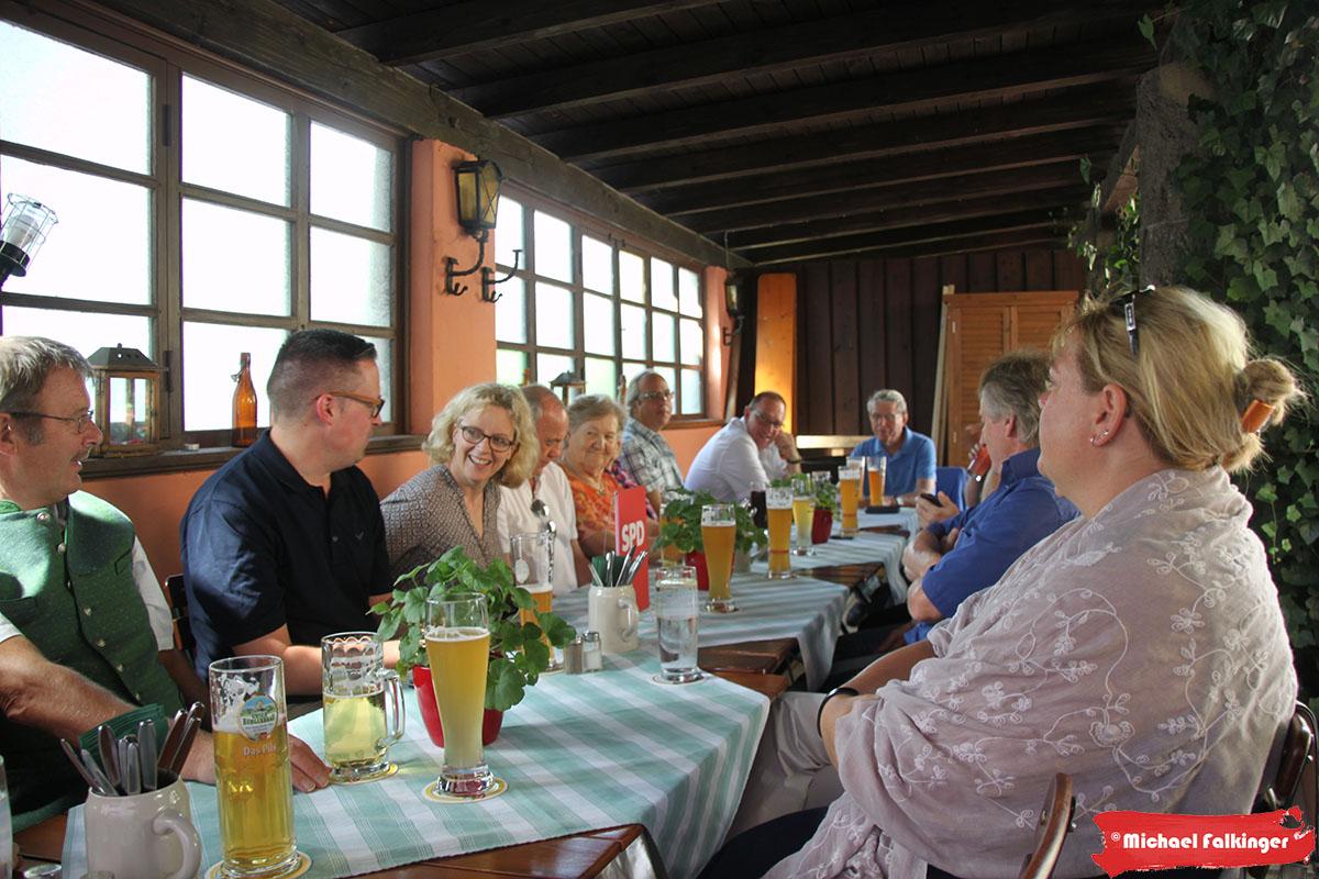 Natascha Kohnen bei der Trostberger SPD
