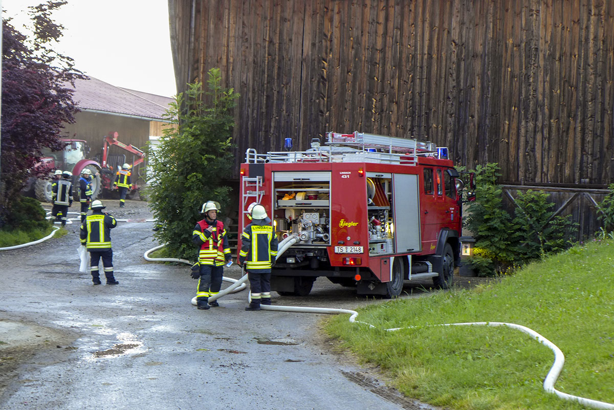 Gemeinschaftsübung der Trostberger Feuerwehren