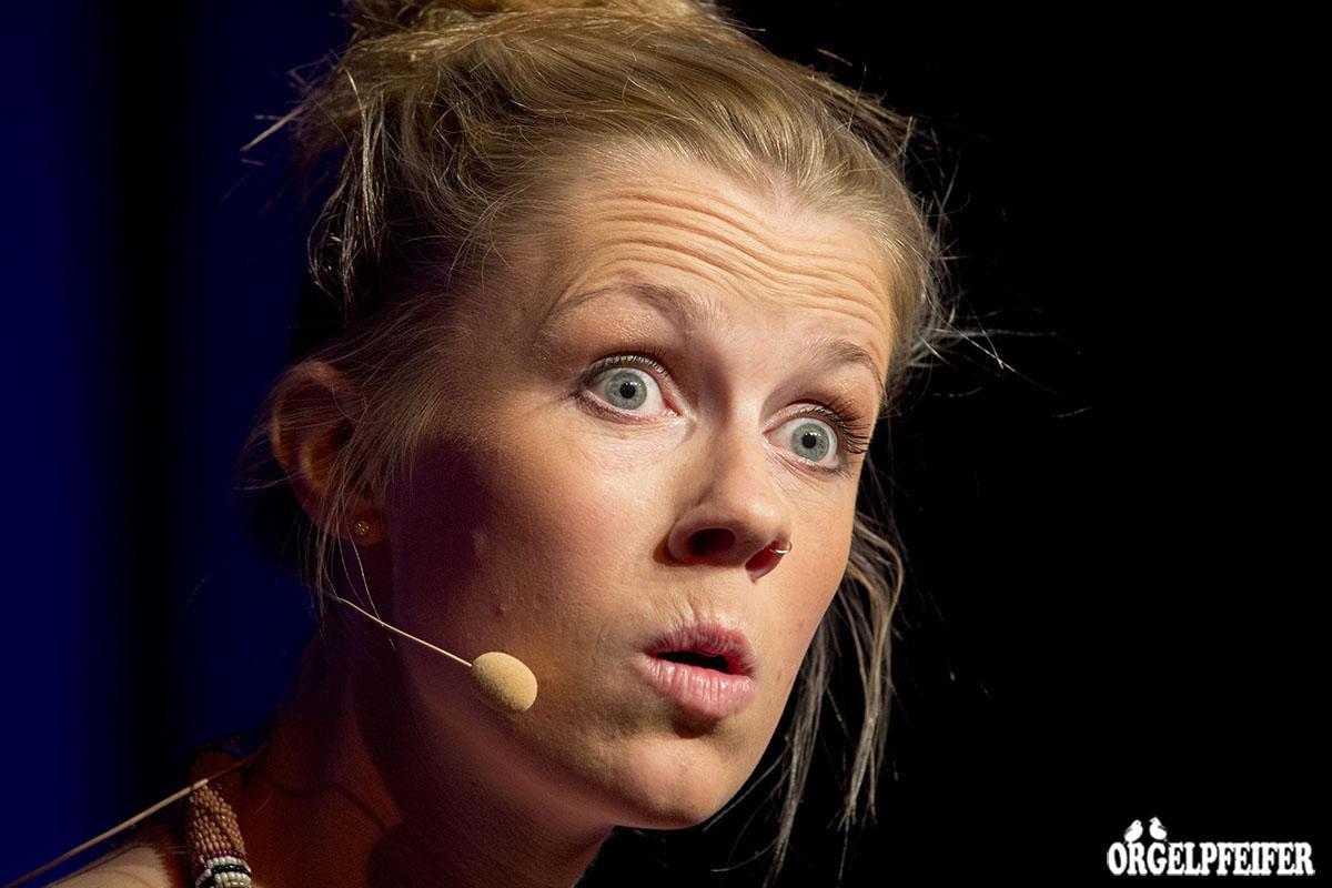 Christine Eixenberger im Postsaal.