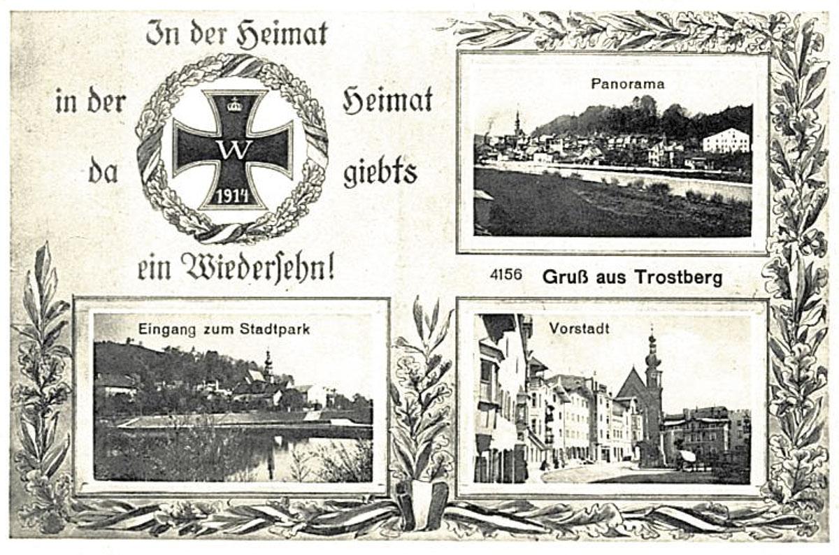 Postkarte aus der Zeit des Ersten Weltkriegs