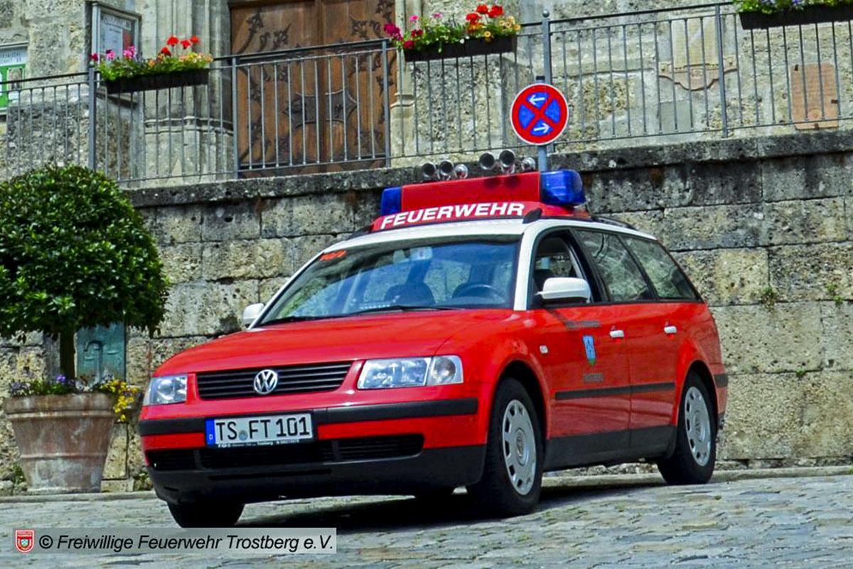 Der alte Kommandowagen der Freiwilligen Feuerwehr Trostberg.